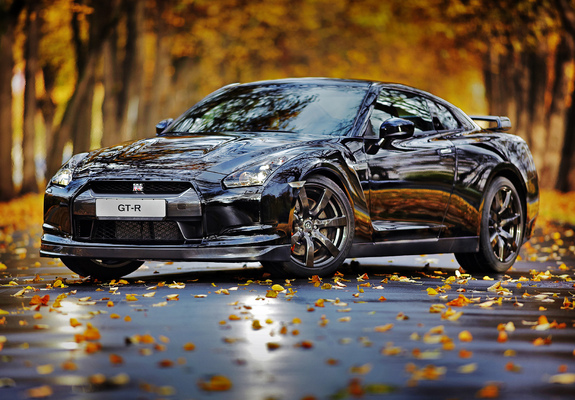 nissan gt-r black edition 2008–10 wallpapers