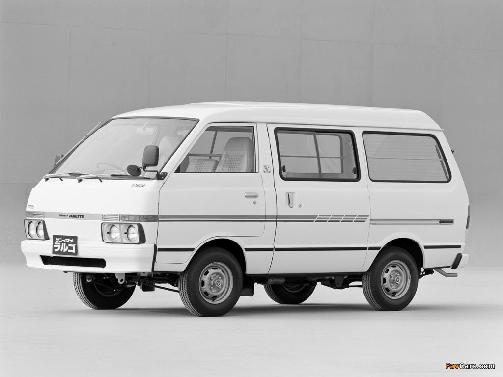 Images of Nissan Sunny Vanette Largo (GC120) 1982–86 (1024 x 768)