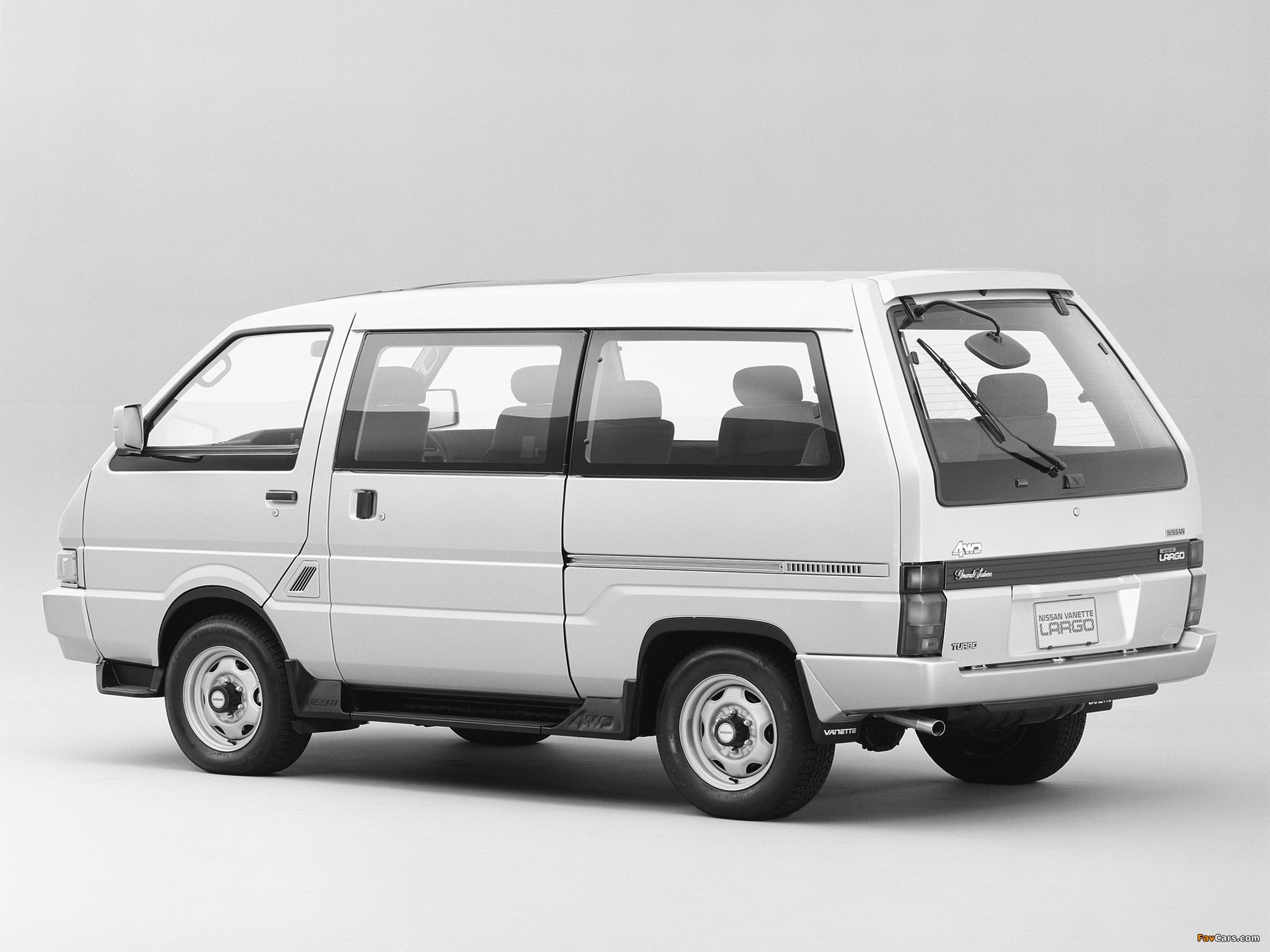 Images of Nissan Vanette Largo Coach (GC22) 1986–93 (2048 x 1536)