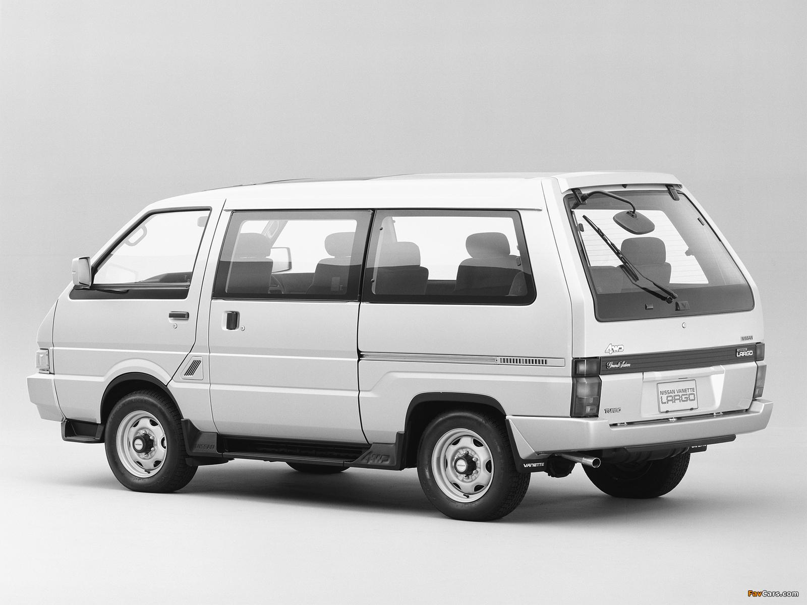 Images of Nissan Vanette Largo Coach (GC22) 1986–93 (1600 x 1200)