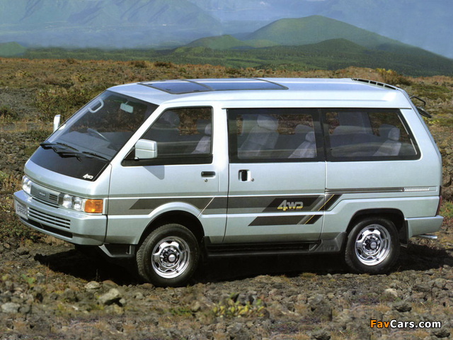Pictures of Nissan Vanette Largo Coach (GC22) 1986–93 (640 x 480)