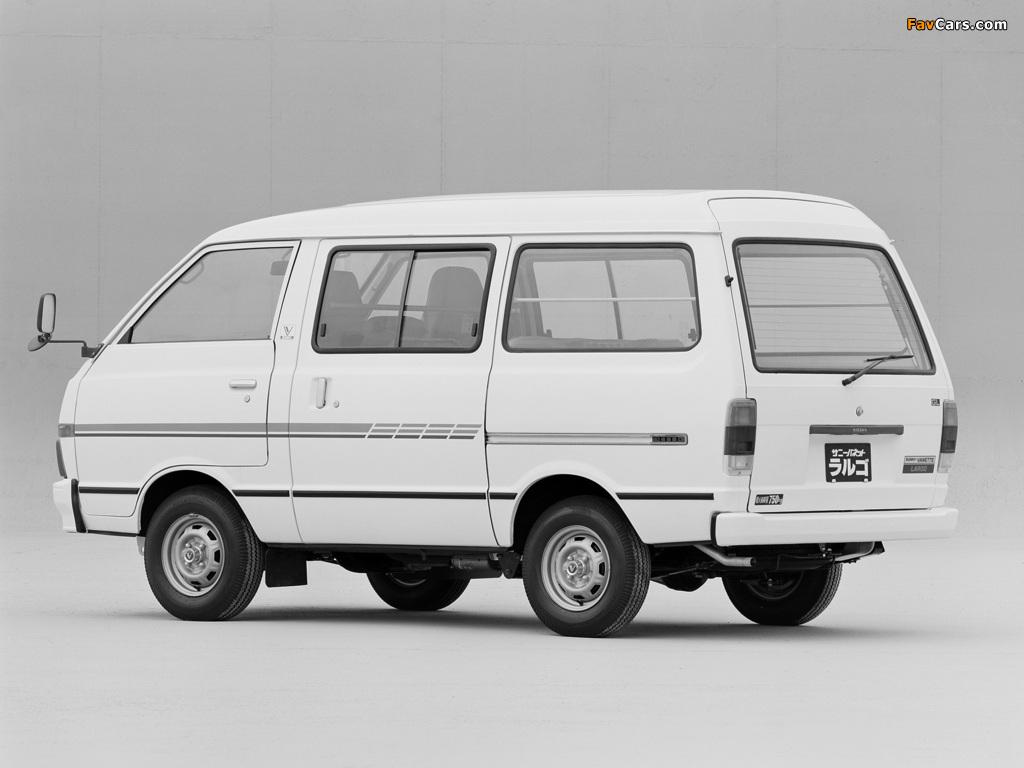 Nissan Sunny Vanette Largo (GC120) 1982–86 wallpapers (1024 x 768)