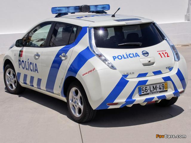Nissan Leaf Polícia 2012 wallpapers (640 x 480)