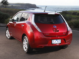 Pictures of Nissan Leaf AU-spec 2012