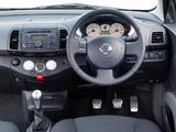 Images of Nissan Micra 160SR 3-door UK-spec (K12) 2005–07