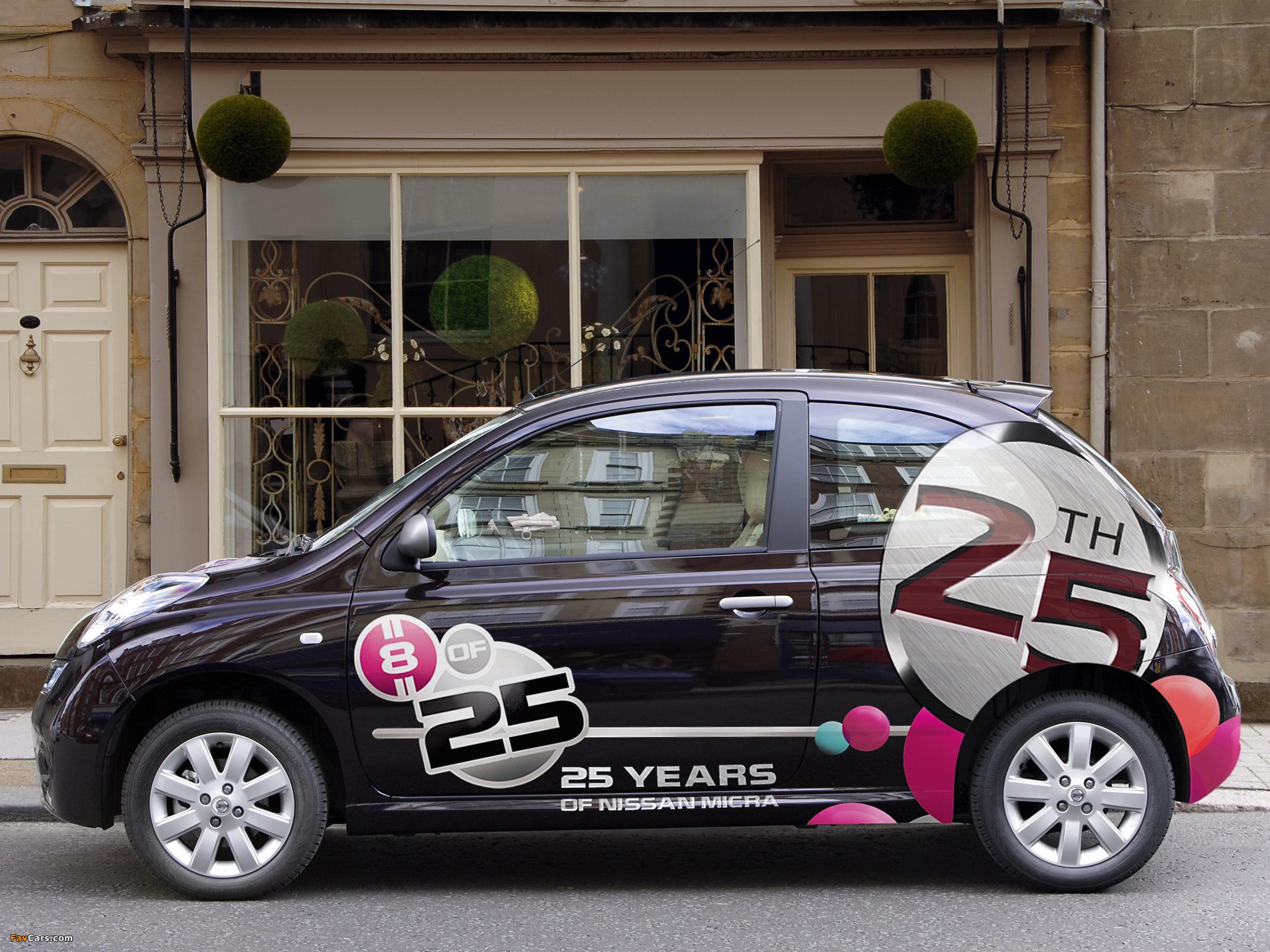 Images of Nissan Micra 3-door 25th Anniversary UK-spec (K12C) 2008 (2048 x 1536)