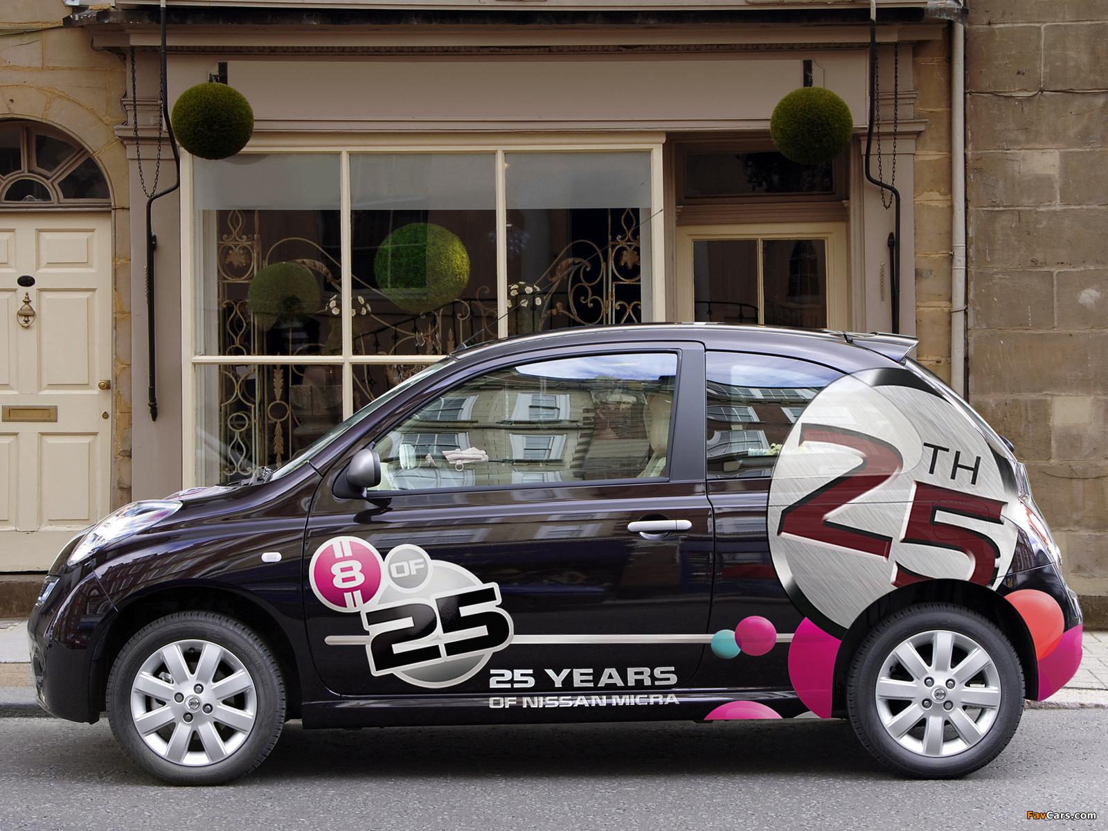 Images of Nissan Micra 3-door 25th Anniversary UK-spec (K12C) 2008 (1600 x 1200)