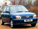 Nissan Micra 5-door UK-spec (K11C) 1999–2003 photos