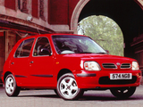 Photos of Nissan Micra 5-door UK-spec (K11B) 1997–99