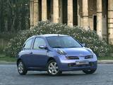 Photos of Nissan Micra 3-door (K12) 2003–05