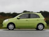 Photos of Nissan Micra 5-door (K13) 2010