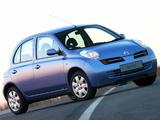 Pictures of Nissan Micra 5-door ZA-spec (K12) 2004–07