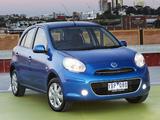 Pictures of Nissan Micra AU-spec (K13) 2010–13