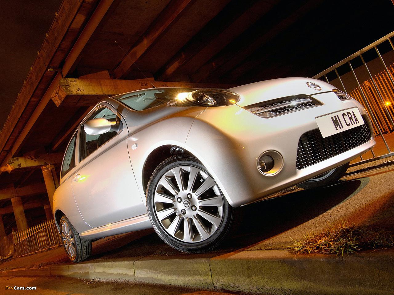 Nissan Micra 3-door UK-spec (K12) 2005–07 wallpapers (1280 x 960)