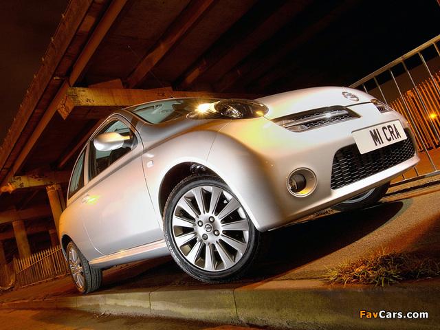 Nissan Micra 3-door UK-spec (K12) 2005–07 wallpapers (640 x 480)