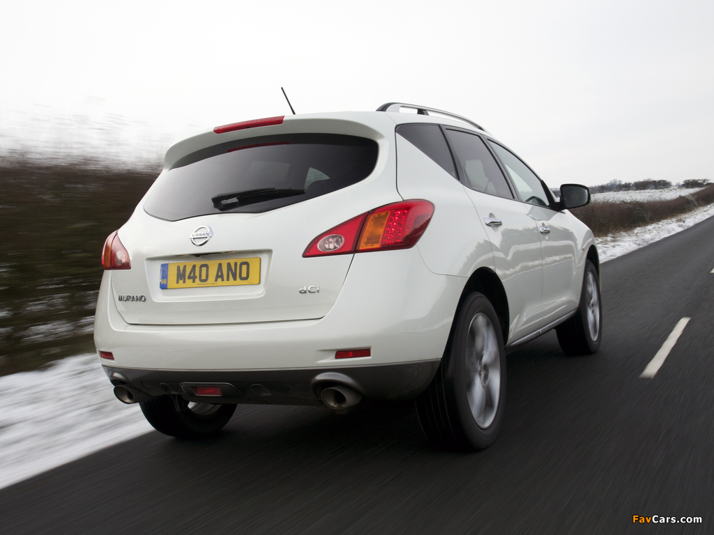 Nissan Murano dCi UK-spec (Z51) 2010–11 wallpapers (1024 x 768)