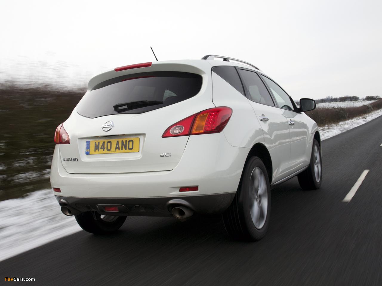 Nissan Murano dCi UK-spec (Z51) 2010–11 wallpapers (1280 x 960)