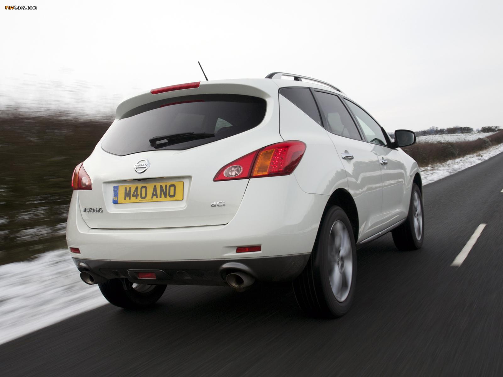 Nissan Murano dCi UK-spec (Z51) 2010–11 wallpapers (1600 x 1200)