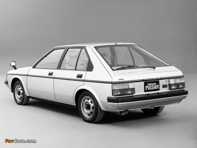 Nissan Pulsar 5-door (N12) 1982–86 pictures (640 x 480)