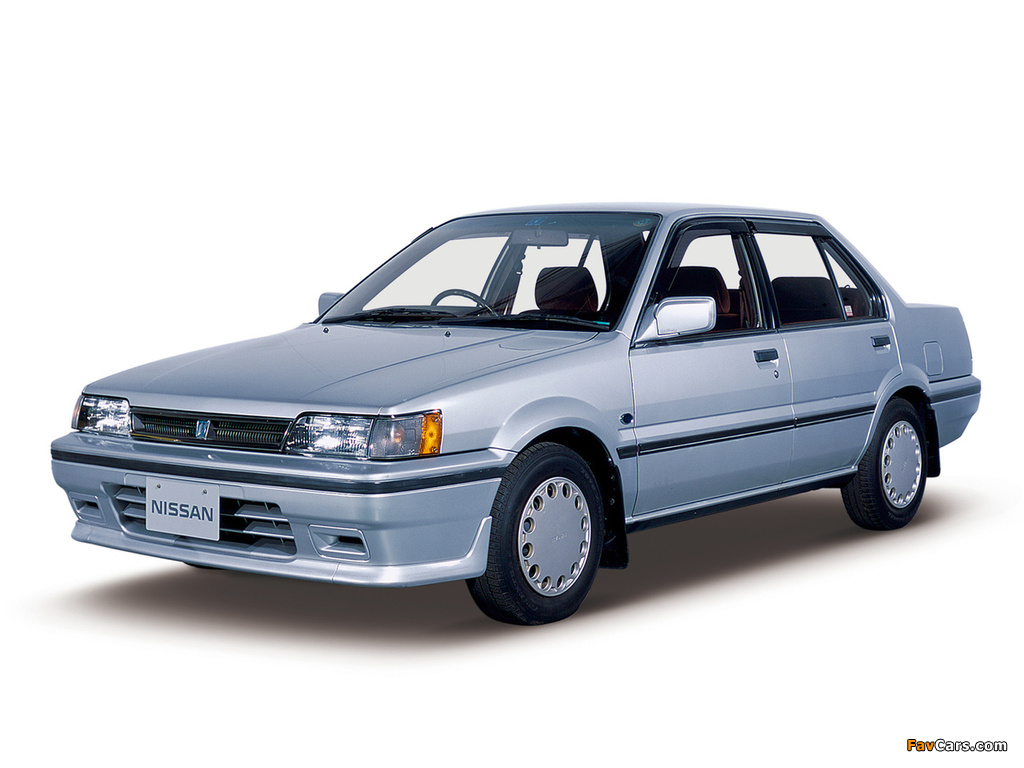 Nissan Pulsar Sedan (N13) 1986–90 wallpapers (1024 x 768)