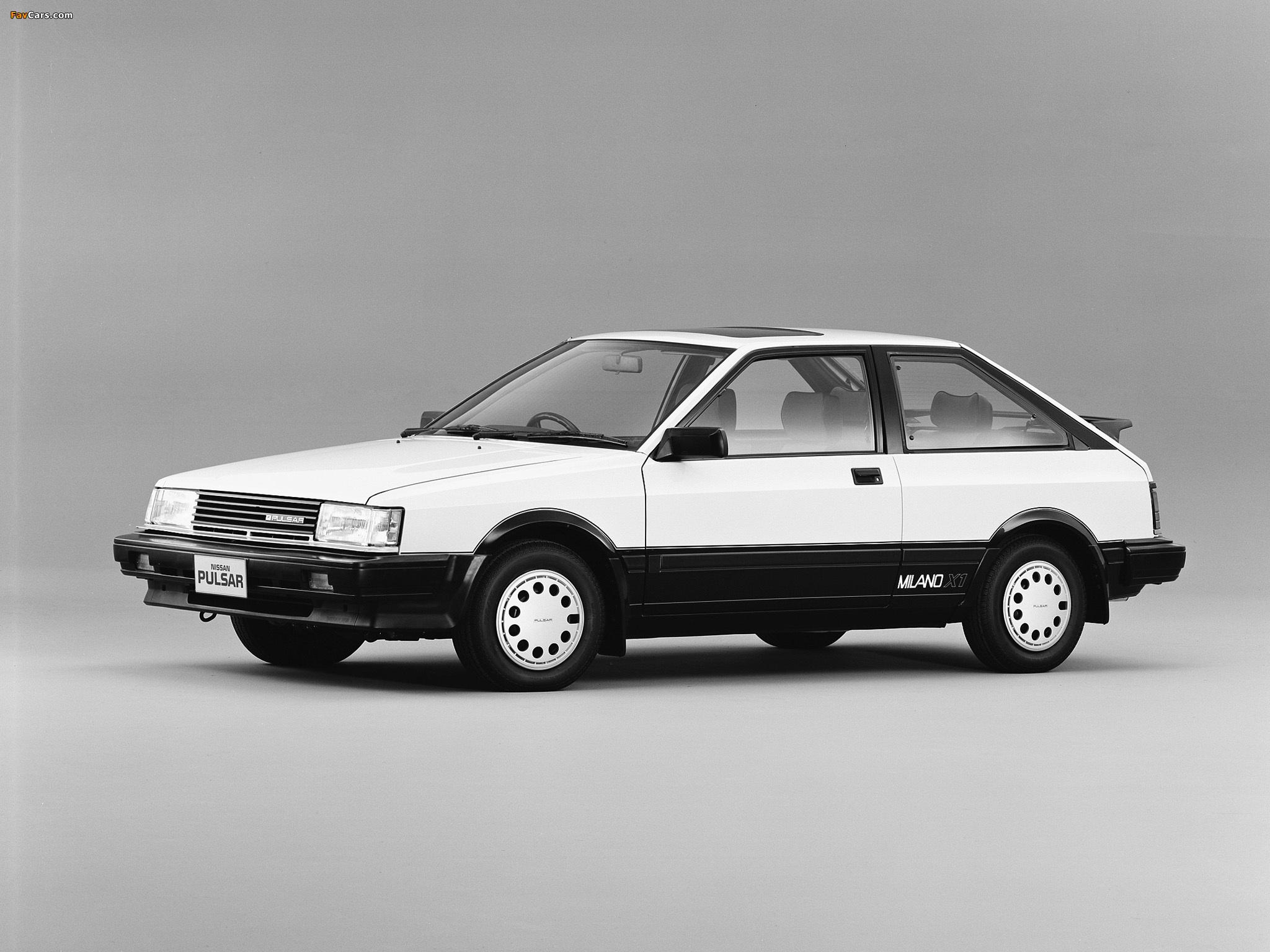 Photos of Nissan Pulsar Milano X1 (N12) 1984–86 (2048 x 1536)