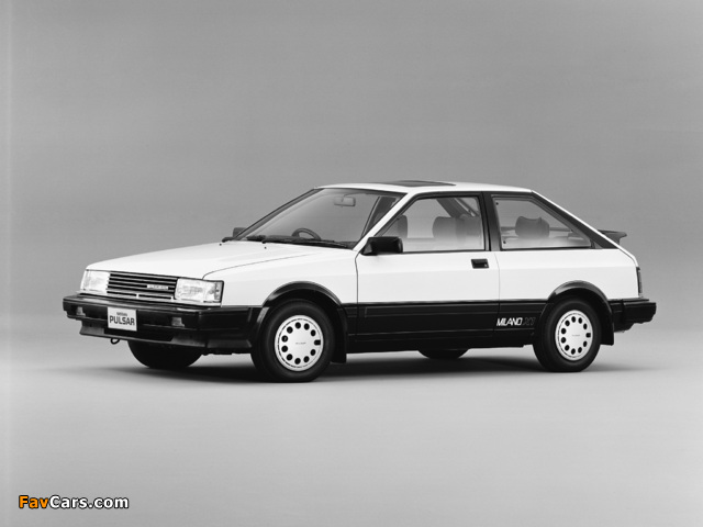 Photos of Nissan Pulsar Milano X1 (N12) 1984–86 (640 x 480)