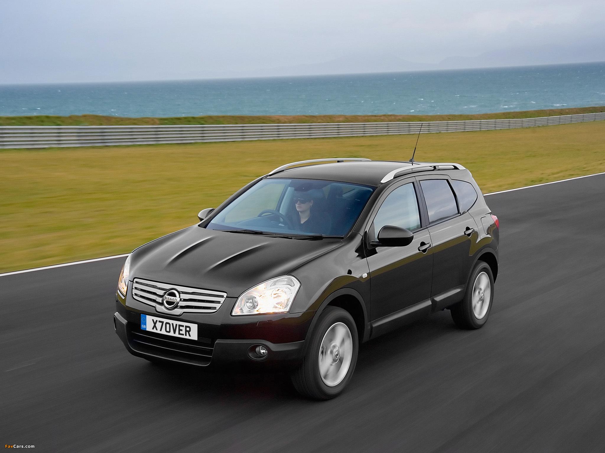 Nissan Qashqai+2 UK-spec 2008–09 photos (2048 x 1536)