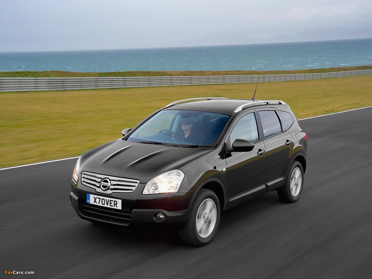 Nissan Qashqai+2 UK-spec 2008–09 photos (1280 x 960)
