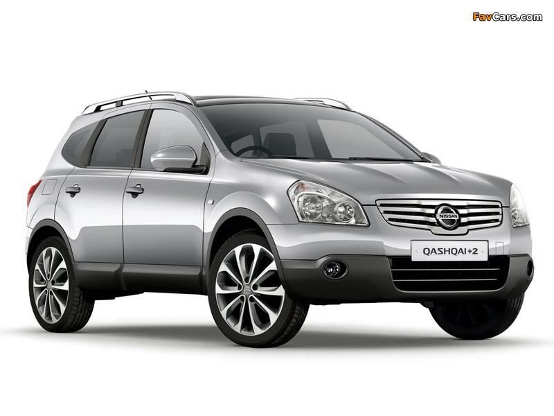 Nissan Qashqai+2 UK-spec 2008–09 photos (800 x 600)