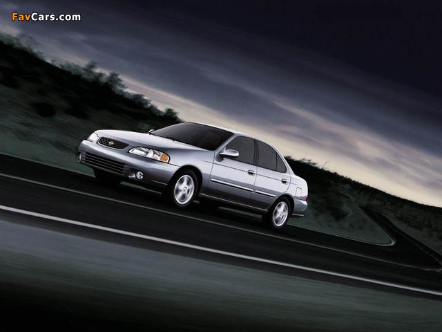 Nissan Sentra (B15) 1999–2004 wallpapers (640 x 480)