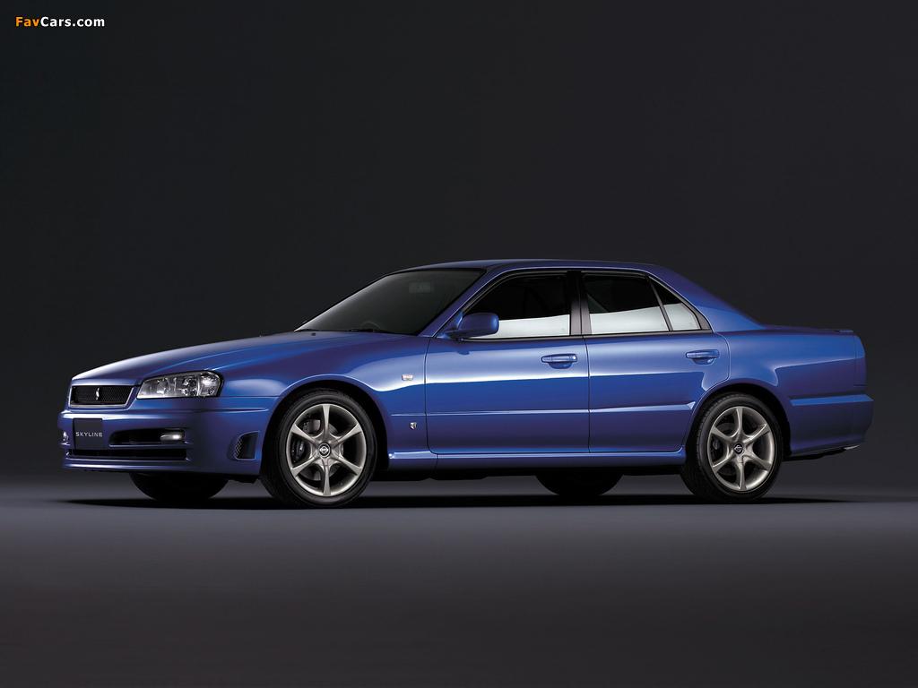 Images of Nissan Skyline GT Turbo Sedan (ER34) 2000–01 (1024 x 768)