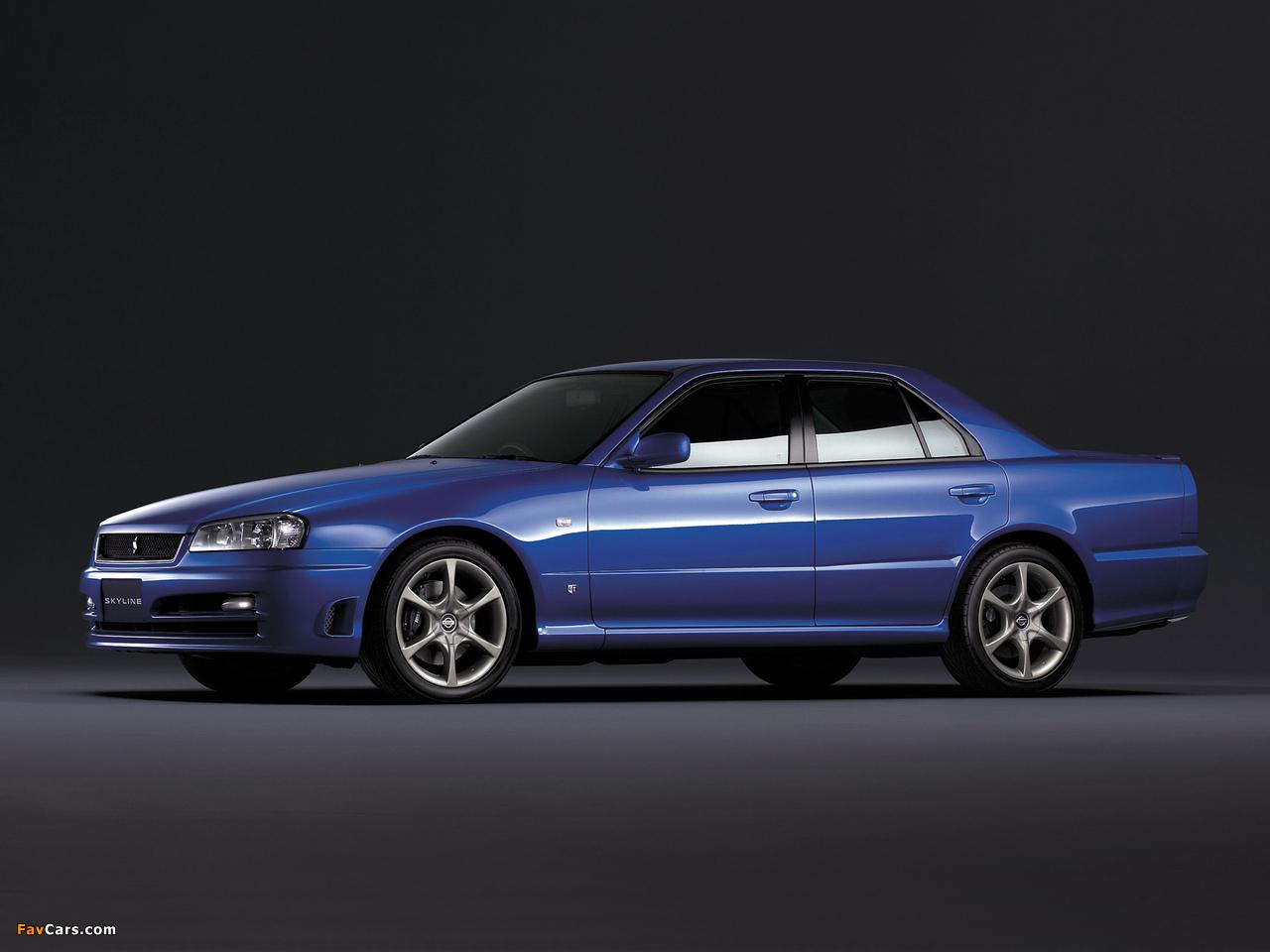 Images of Nissan Skyline GT Turbo Sedan (ER34) 2000–01 (1280 x 960)