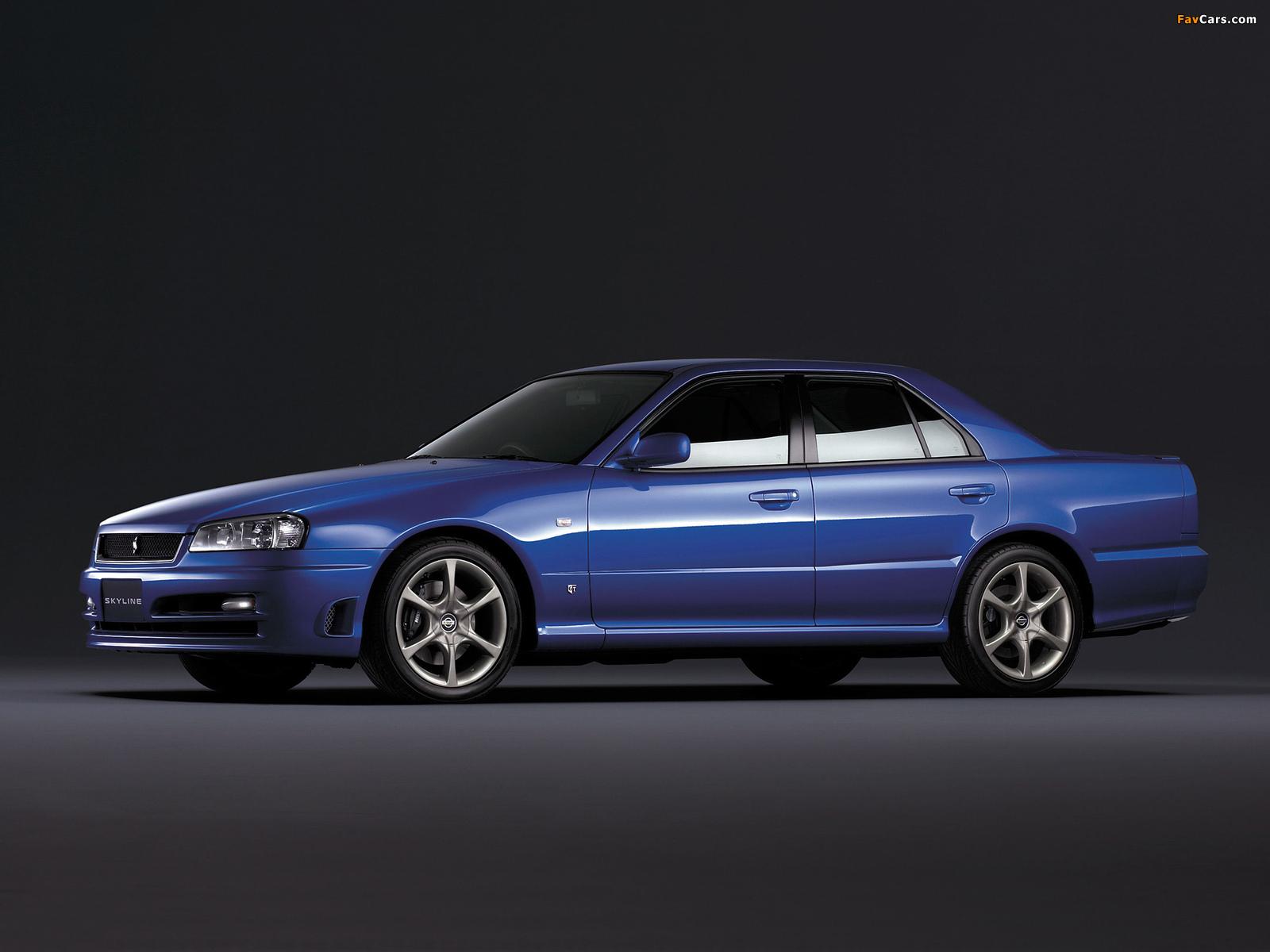 Images of Nissan Skyline GT Turbo Sedan (ER34) 2000–01 (1600 x 1200)