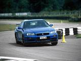 Nissan Skyline GT-R V-spec (BNR34) 1999–2002 wallpapers