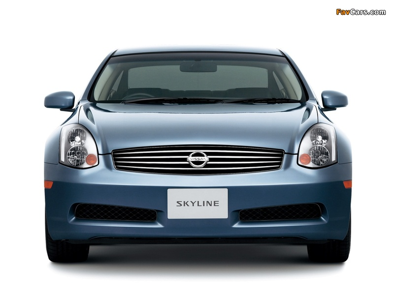 Pictures of Nissan Skyline Coupe (CV35) 2003–07 (800 x 600)