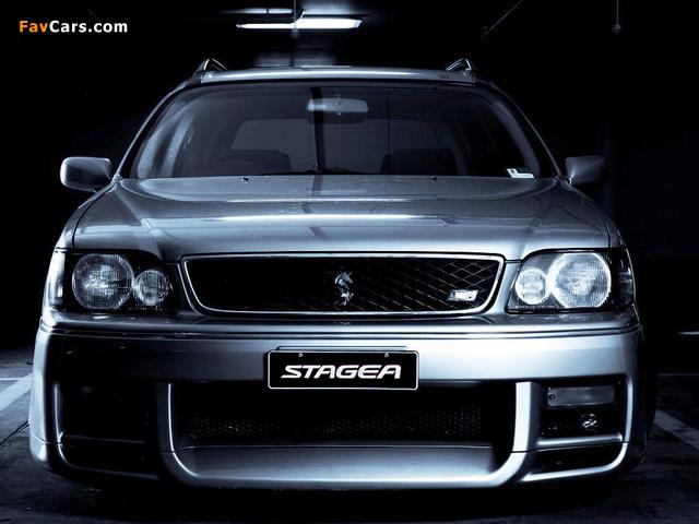 Nissan Stagea Autech Version (E-WGNC34) 1997–2001 wallpapers (640 x 480)