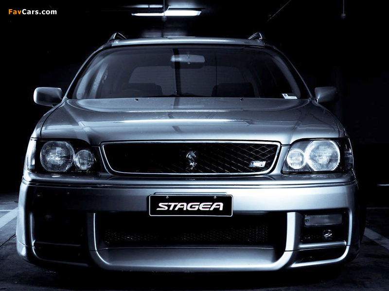 Nissan Stagea Autech Version (E-WGNC34) 1997–2001 wallpapers (800 x 600)