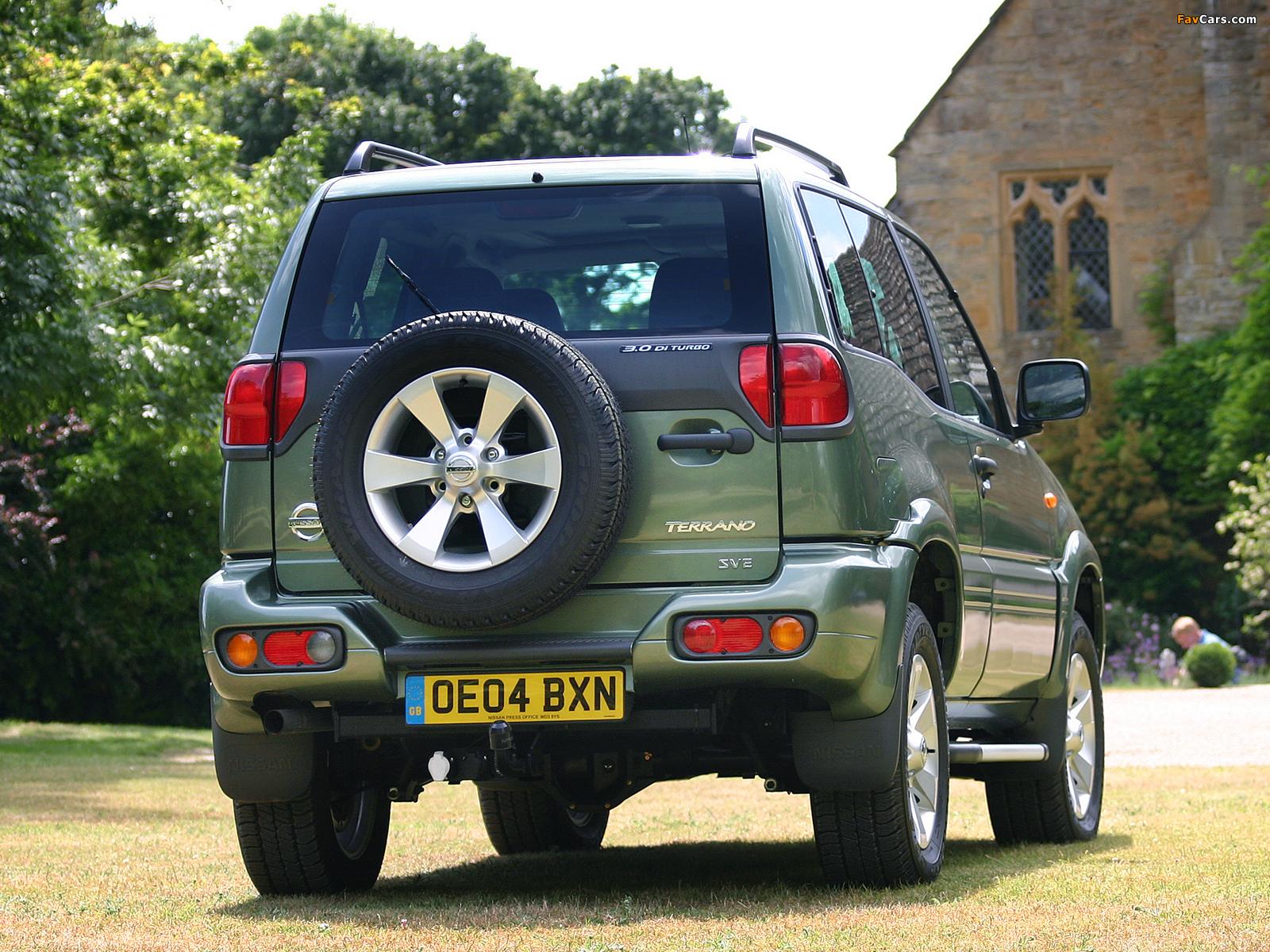 Nissan Terrano II 3-door UK-spec (R20) 1999–2006 pictures (1600 x 1200)