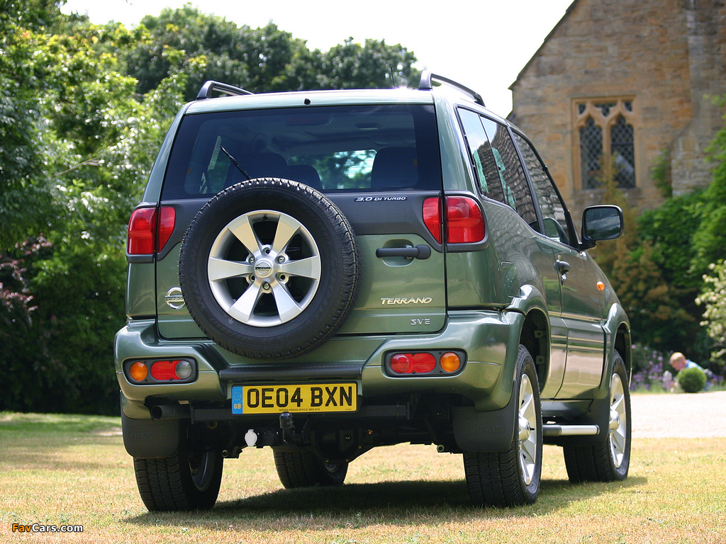 Nissan Terrano II 3-door UK-spec (R20) 1999–2006 pictures (1024 x 768)