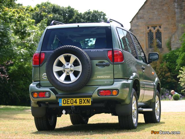 Nissan Terrano II 3-door UK-spec (R20) 1999–2006 pictures (640 x 480)