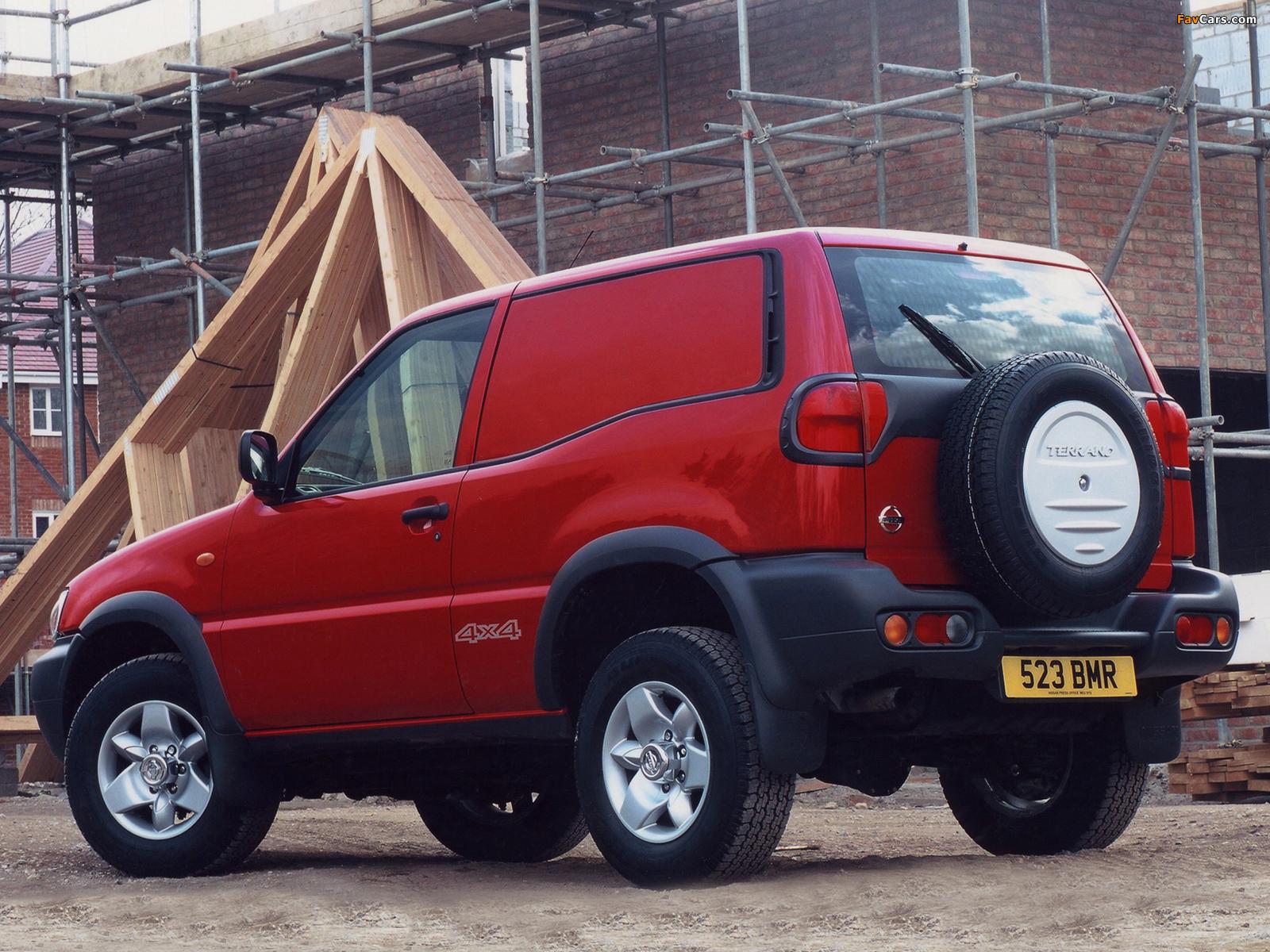 Nissan Terrano II Van UK-spec (R20) 1999–2006 wallpapers (1600 x 1200)