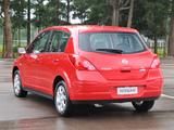 Nissan Tiida Hatchback BR-spec (C11) 2008–10 wallpapers