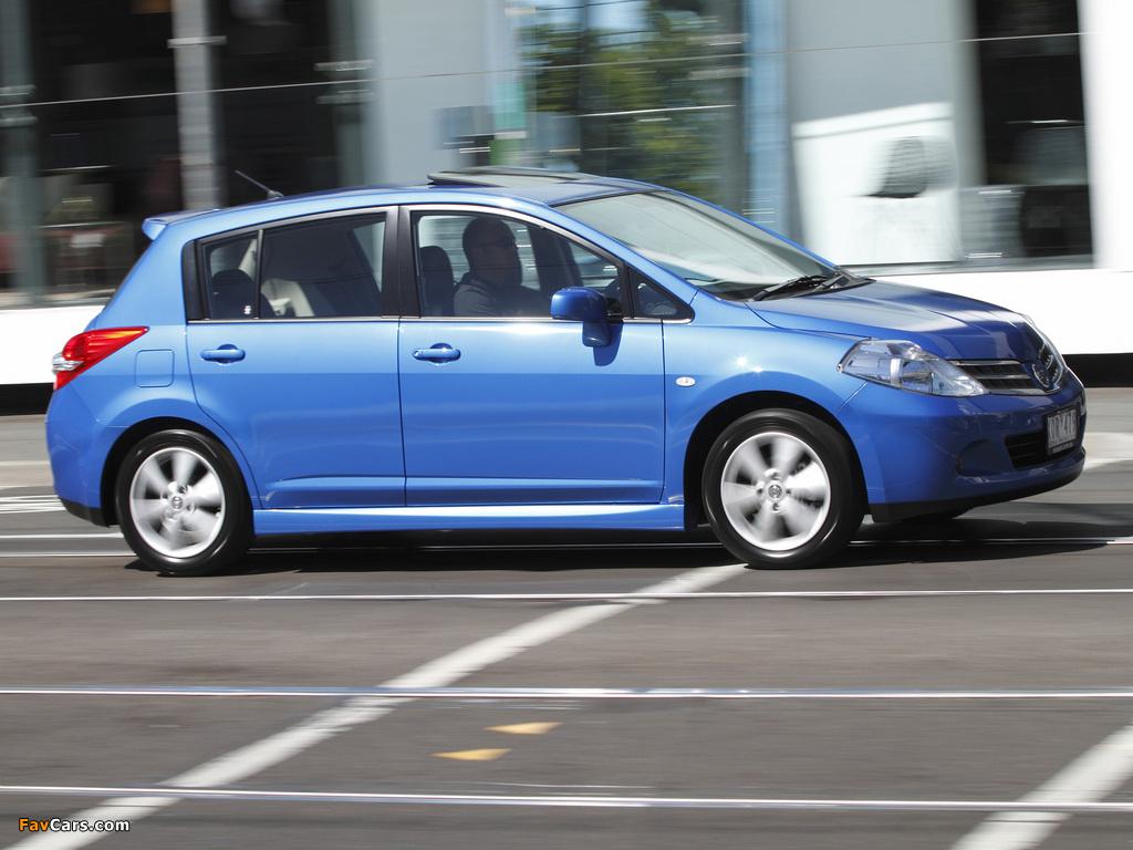 Nissan Tiida Hatchback AU-spec (C11) 2010 wallpapers (1024 x 768)