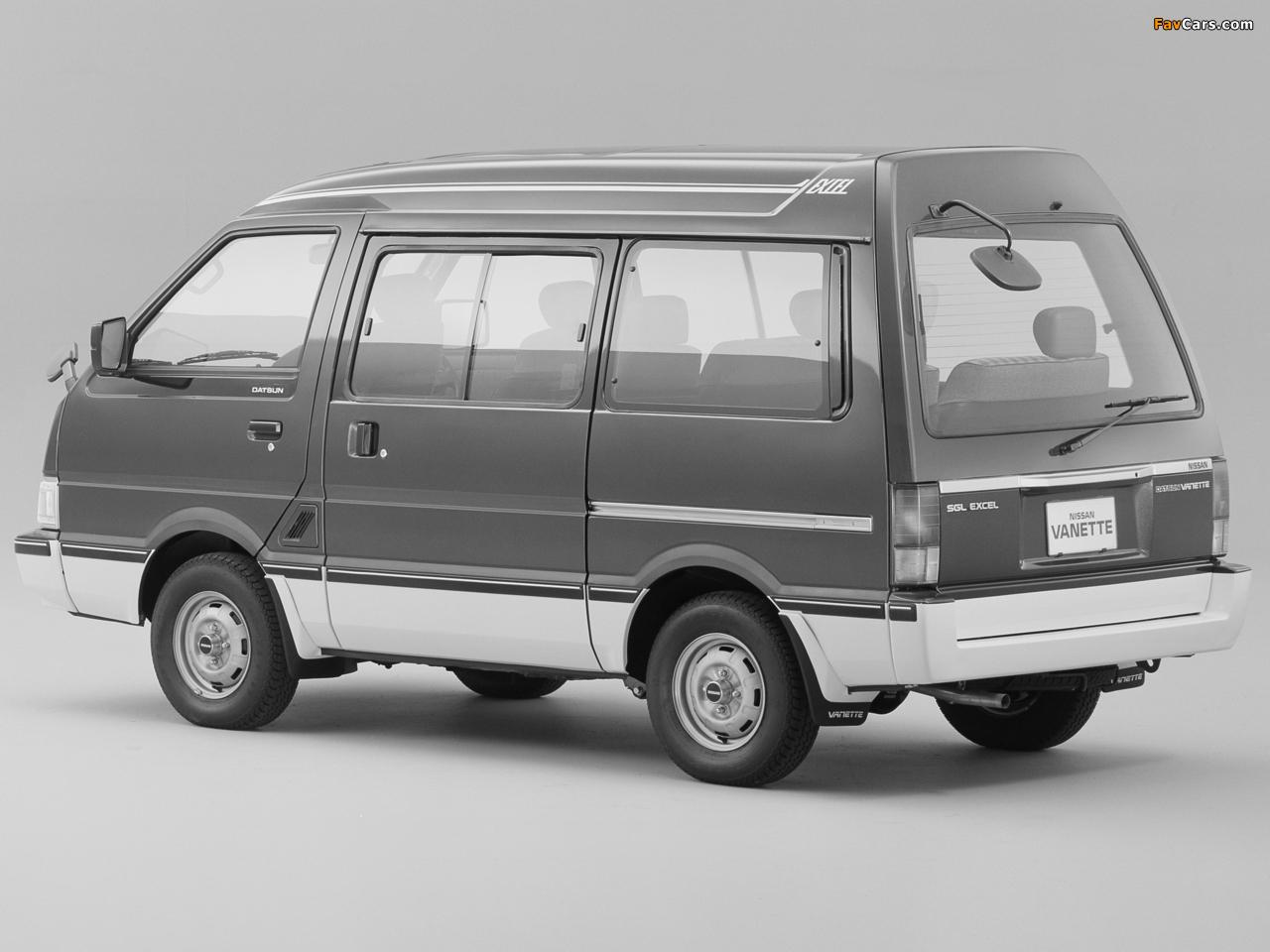 Nissan Vanette (C22) 1985–94 images (1280 x 960)