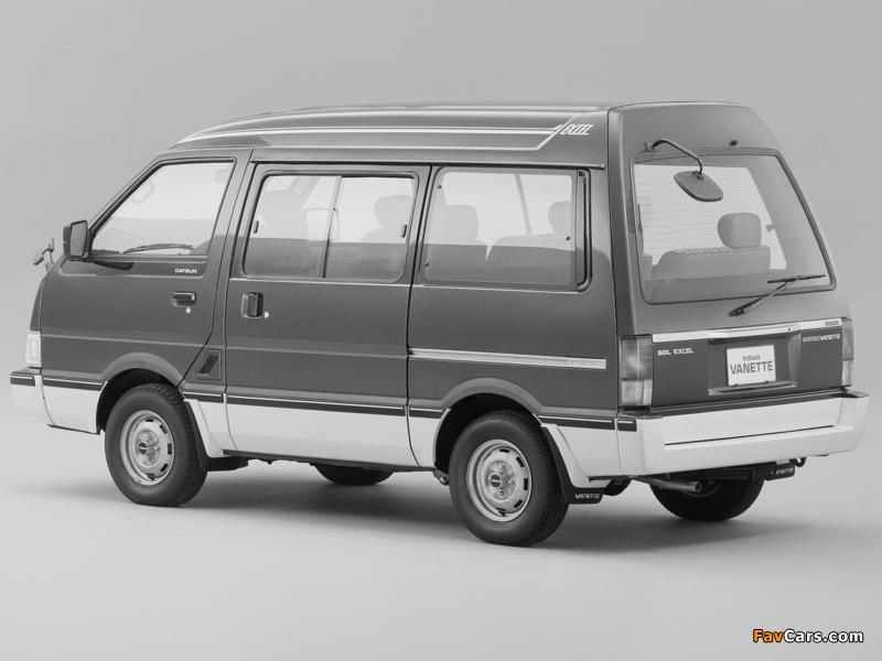 Nissan Vanette (C22) 1985–94 images (800 x 600)