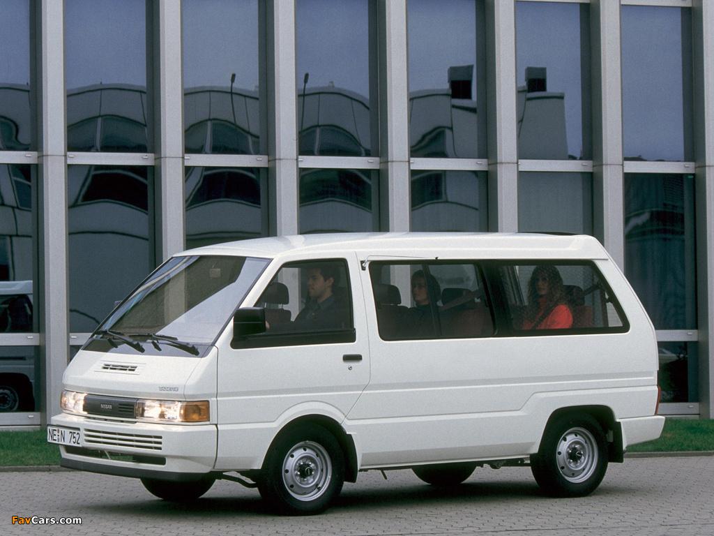 Nissan Vanette Coach EU-spec (C22) 1986–89 wallpapers (1024 x 768)