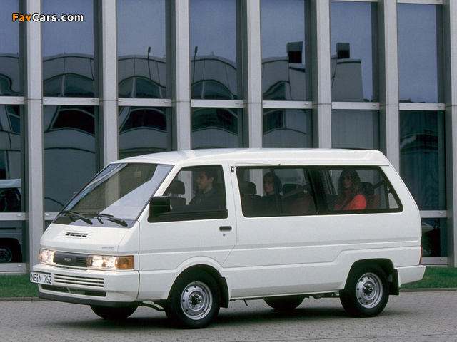 Nissan Vanette Coach EU-spec (C22) 1986–89 wallpapers (640 x 480)
