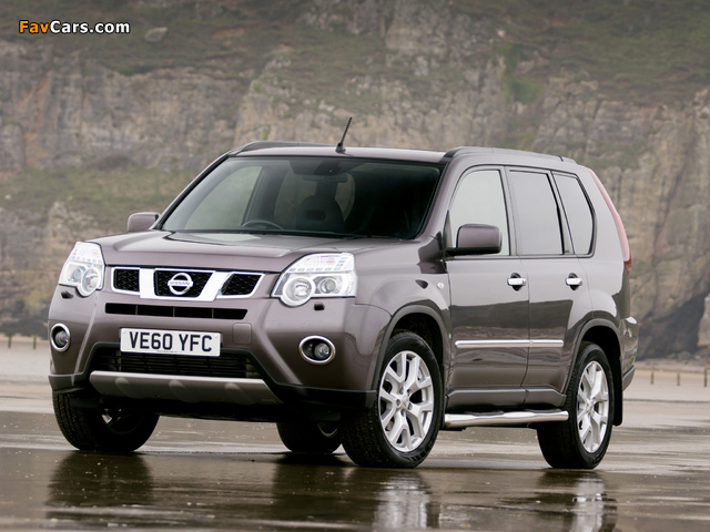 Nissan X-Trail Platinum Edition UK-spec (T31) 2011–12 wallpapers (640 x 480)