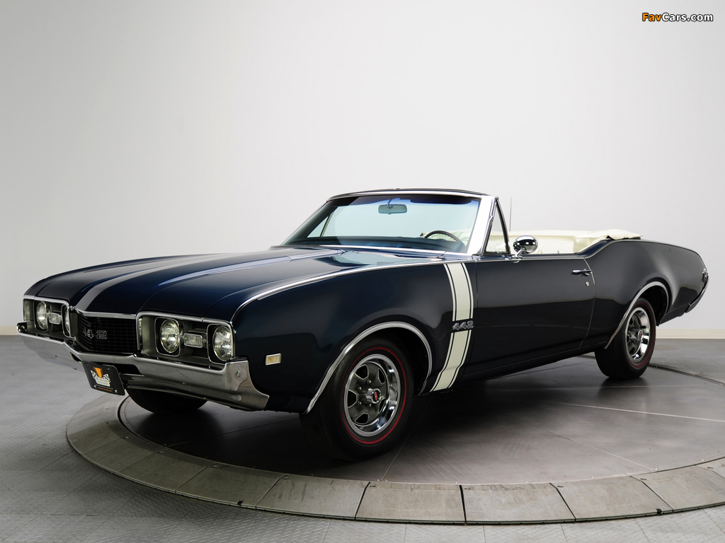 Oldsmobile 442 Convertible (4467) 1968 wallpapers (1024 x 768)