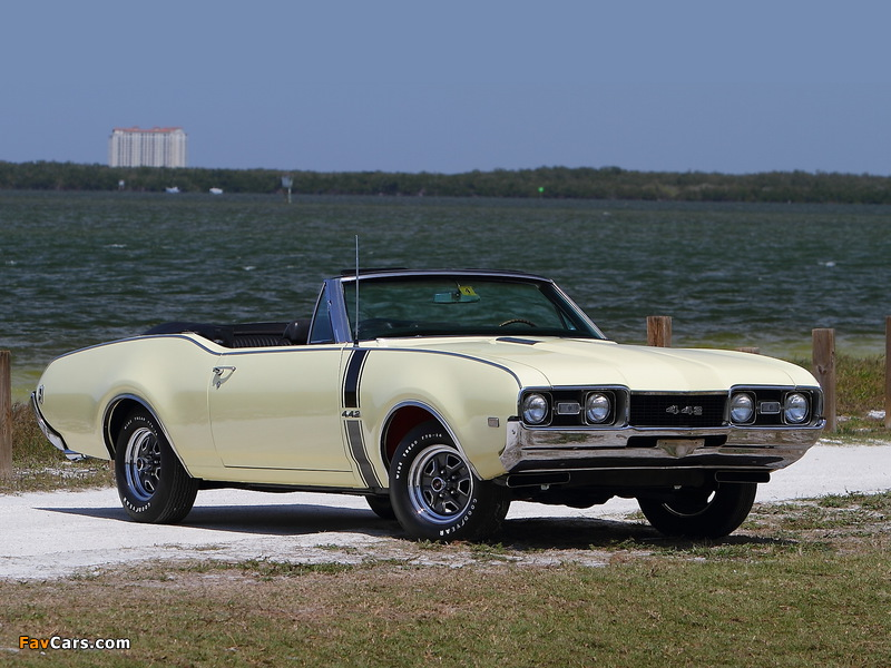 Oldsmobile 442 Convertible (4467) 1968 wallpapers (800 x 600)
